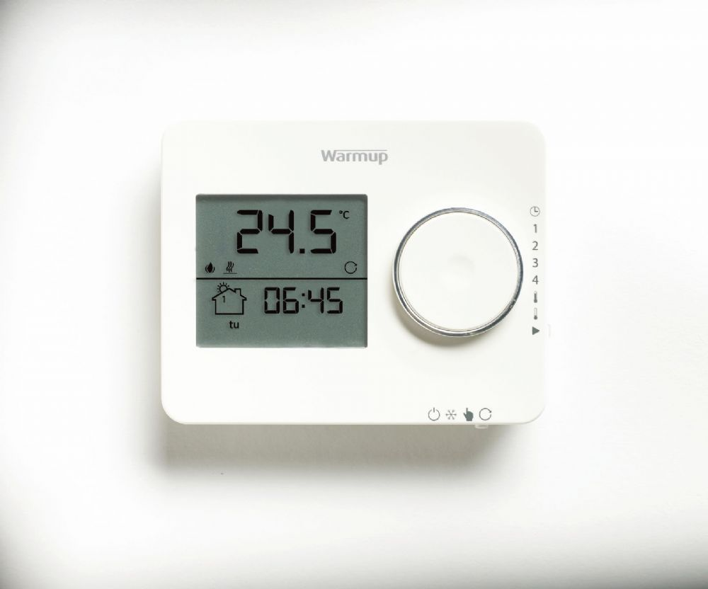 Warmup Tempo Digital Thermostat In White Or Black For
